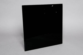 Candle holder mirror black 40x40cm