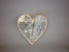 Birch heart hanging 15cm
