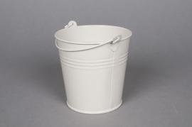 Zink bucket ivory D8 H7cm