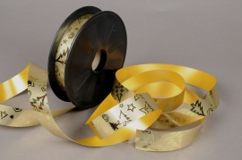 Ribbon bright metal gold 25mmx68m