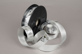 Ribbon bright metal silver 25mmx68m
