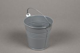 Zinc bucket grey D8 H7cm