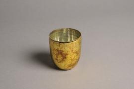 A000G2 Gold glass candle jar D6.5cm H7cm