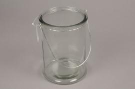 A000G9 Photophore en verre D12cm H17cm