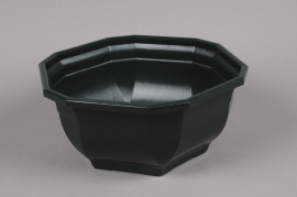 A000H7 Bowl plastic dark green D27cm H12cm