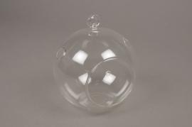 A000H9 Boule en verre à suspendre D14cm H16cm