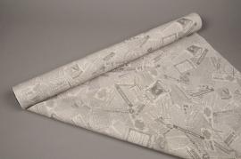 A000N4 Rouleau de papier mat journal 80cm x 40m