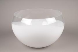 A000NH Coupe en verre blanc D60cm H32cm