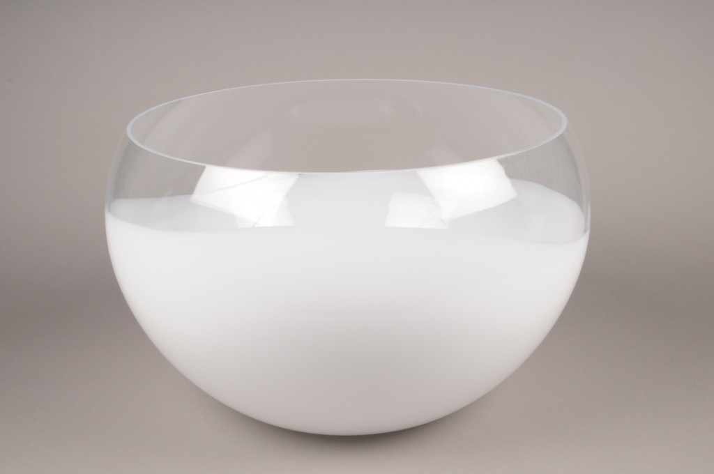 A000NH glass bowl white D60cm H32cm