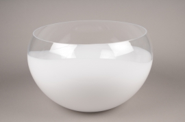 A000NH glass bowl white D60cm H32cm