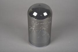 A000O7 Cloche en verre fumé led D10cm H18cm