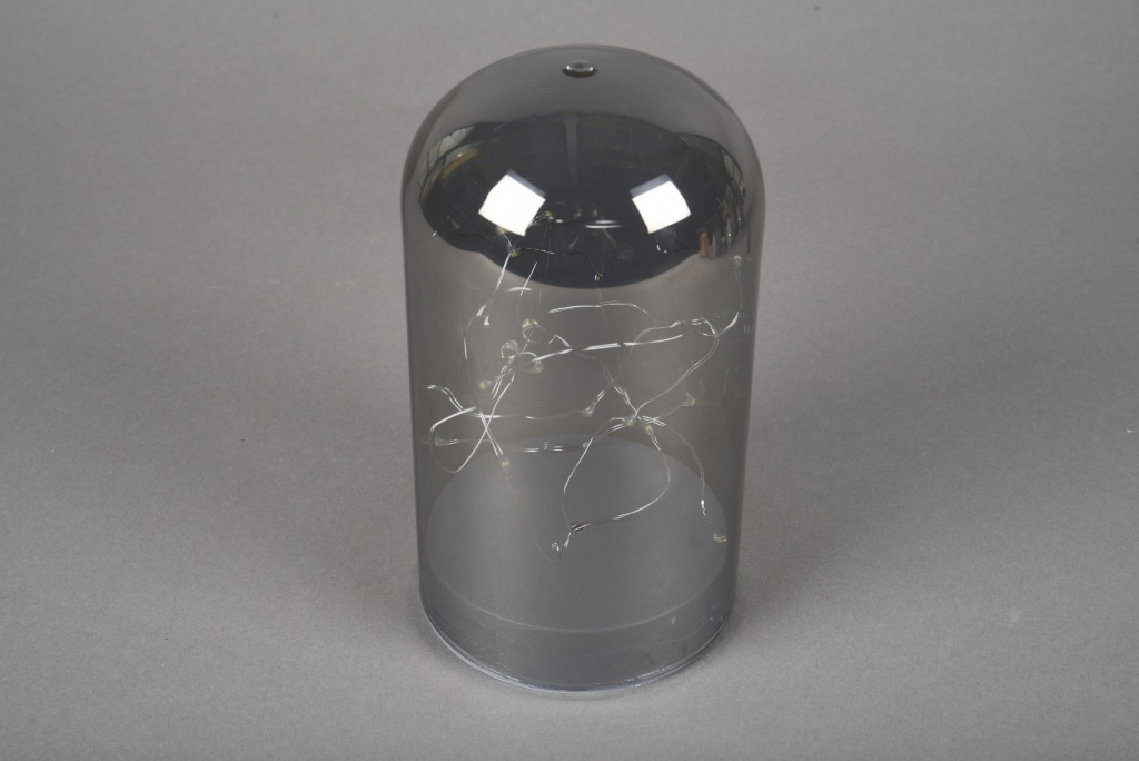A000O7 Smoked glass bell led D10cm H18cm