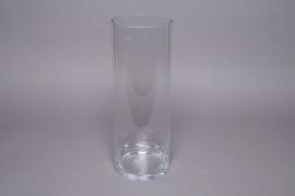 A000PQ Cylinder glass vase D12cm H30cm