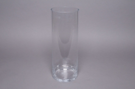 A000PQ Vase en verre cylindre D12cm H30cm