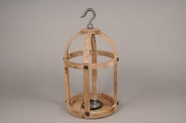 A000S0 Lanterne en bois D26cm H50cm