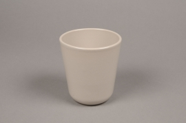 A000T3 Grey ceramic planter pot D10cm H11.5cm