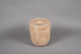 A000VV Pot fibre sable D28cm H32cm