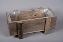 A000WT Jardinière en bois 25cm x 60cm H25cm