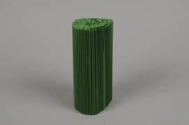 A000Z5 Set of 100 pvc pleated pot cover green H12cm