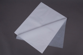 A001AS Ream of 520 tissue paper sheets white 50x75cm