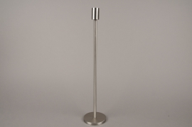 A001E0 Silver metal candle holder H45cm