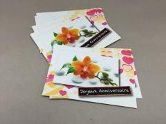 A001MQ Pack of 15 postcards Joyeux Anniversaire