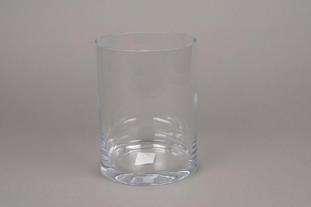 A001PQ Glass cylinder vase D15cm H20cm