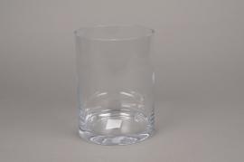 A001PQ Vase en verre cylindre D15cm H20cm