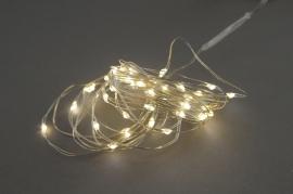 A001R5 Guirlandes électriques 40 LED blanc chaud L3.9m