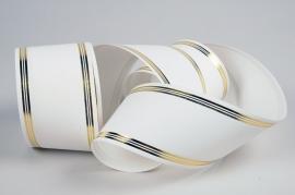 A001RB Ruban deuil blanc 75mm x 50m