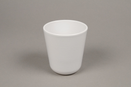 A001T3 White ceramic planter pot D10cm H11.5cm