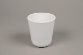 A001T3 White ceramic planter pot D10cm H11.5cm