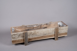 A001WT Jardinière en bois 100cm x 29cm H25.5cm