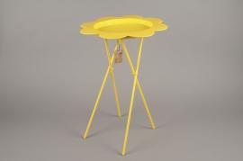 A002AK Table métal fleur jaune D34cm H50cm