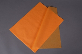 A002AS Ream of 520 tissue paper sheets saffron orange 50x75cm