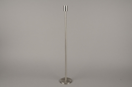 A002E0 Silver metal candle holder H65cm