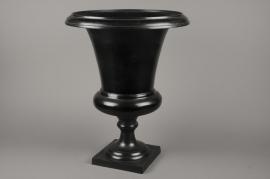 A002E5 Metal Medicis vase black D45cm H64cm