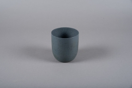 A002JY Grey metal planter D11.5cm H12cm