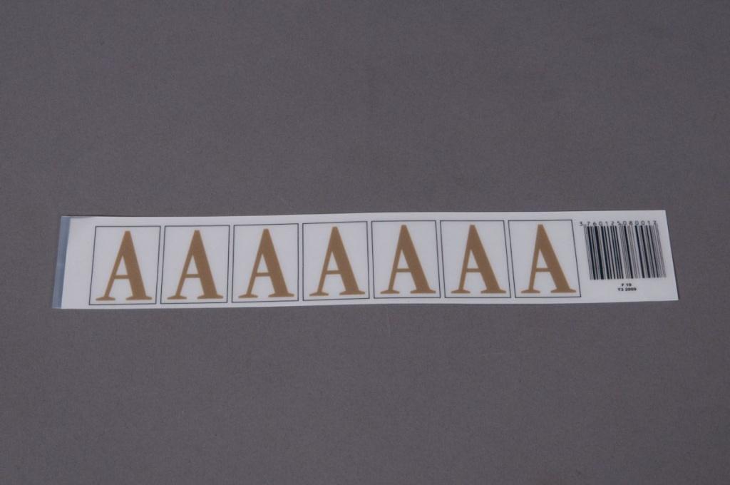 A002K4 Pochette de 50 lettres A 33mm