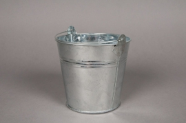 A002KM Bucket zinc natural  D11 H10cm