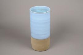 A002Q0 Blue ceramic vase D19cm H40cm