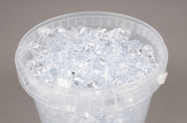 A002QF Bucket 2.5L clear stones 1.5 - 3cm