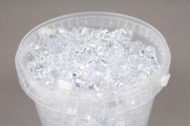 A002QF Seau 2.5L cailloux transparent 1.5 - 3cm