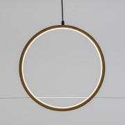 A002R5 Cercle en bois naturel et LED D37cm