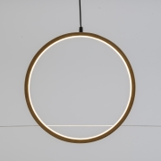 A002R5 Natural wooden circle with LED D37cm