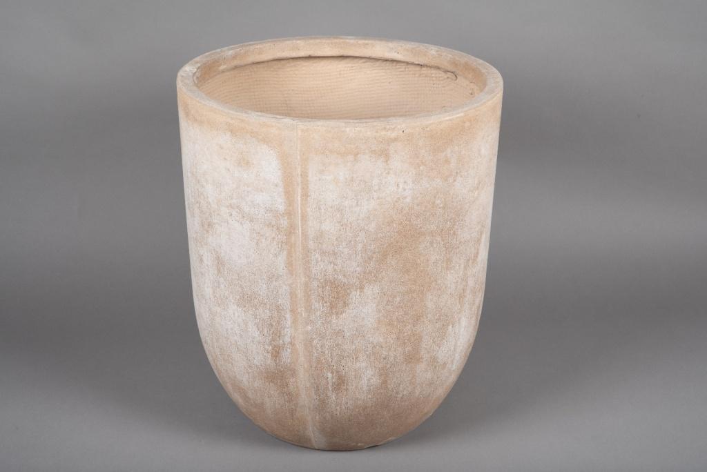 A002VV Pot fibre sable D43cm H50cm