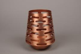 A002W0 Photophore métal cuivre H21cm