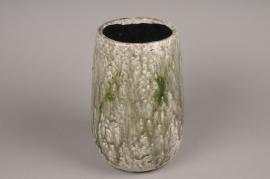 A002W6 Vase en céramique vert D18cm H30cm