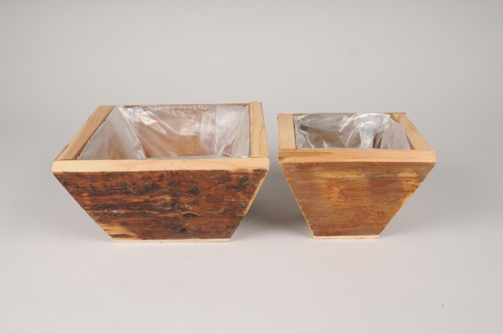 A002ZC Set de 2 coupes en bois