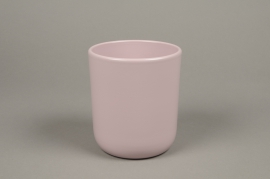 A003A8 Pink ceramic planter pot D13cm H15.5cm